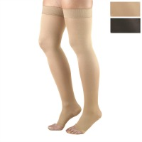 362 / OPAQUE THIGH HIGH OPEN TOE / 20-30 MMHG