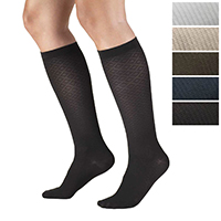 1976 / DIAMOND PATTERN TROUSER SOCKS / 15-20 MMHG