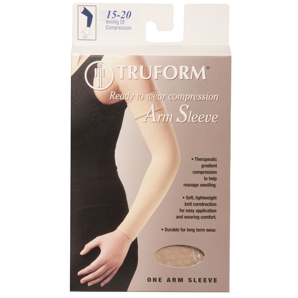 Truform, 3315, 15-20 mmHg, Ready to Wear, Arm Sleeve, Soft Top, Package
