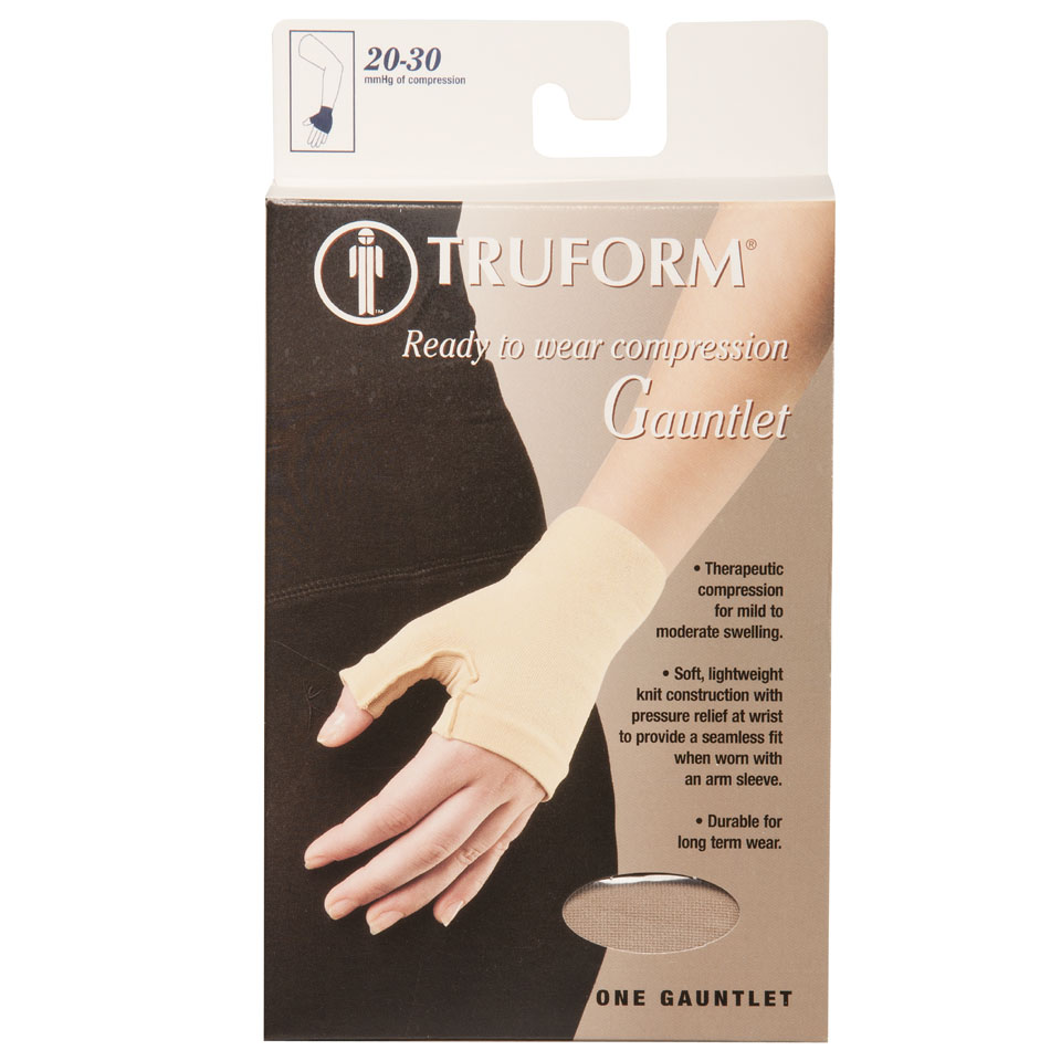 Truform, 3322, 20-30 mmHg, Ready-To-Wear, Gauntlet, Package