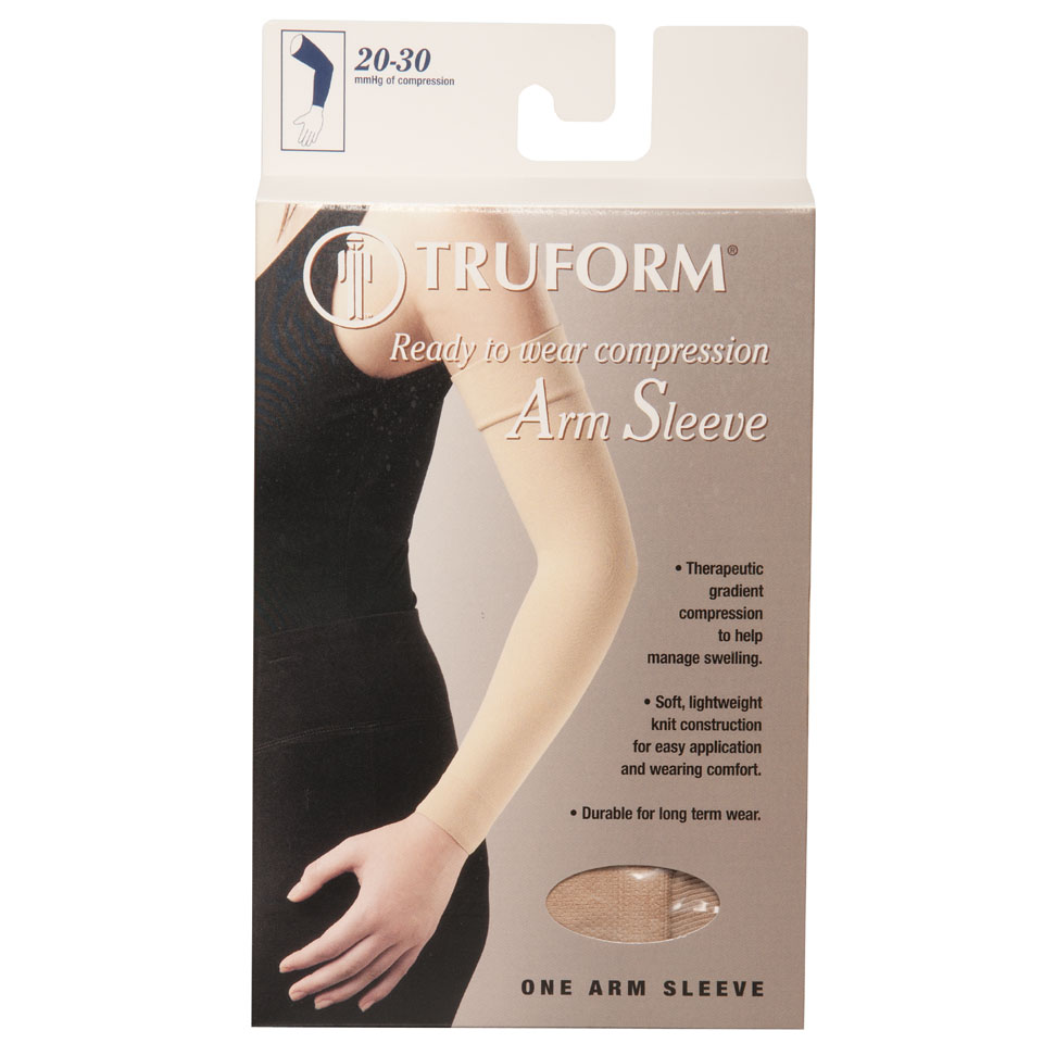 Truform, 3325, 20-30 mmHg, Ready-To-Wear, Arm Sleeve, Package