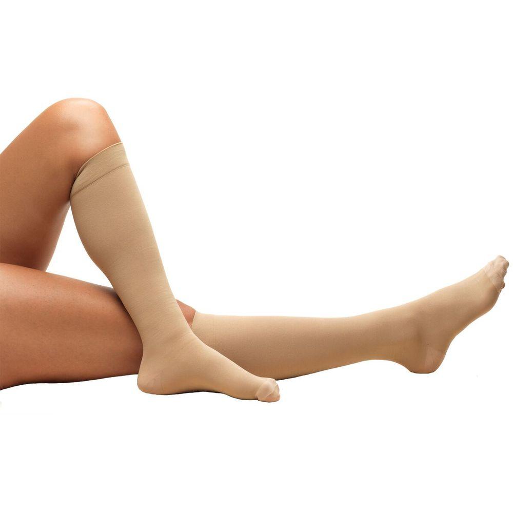 Truform, 8808, 18 mmHg, Anti-Embolism, Closed Toe, Knee High, Stockings, Beige