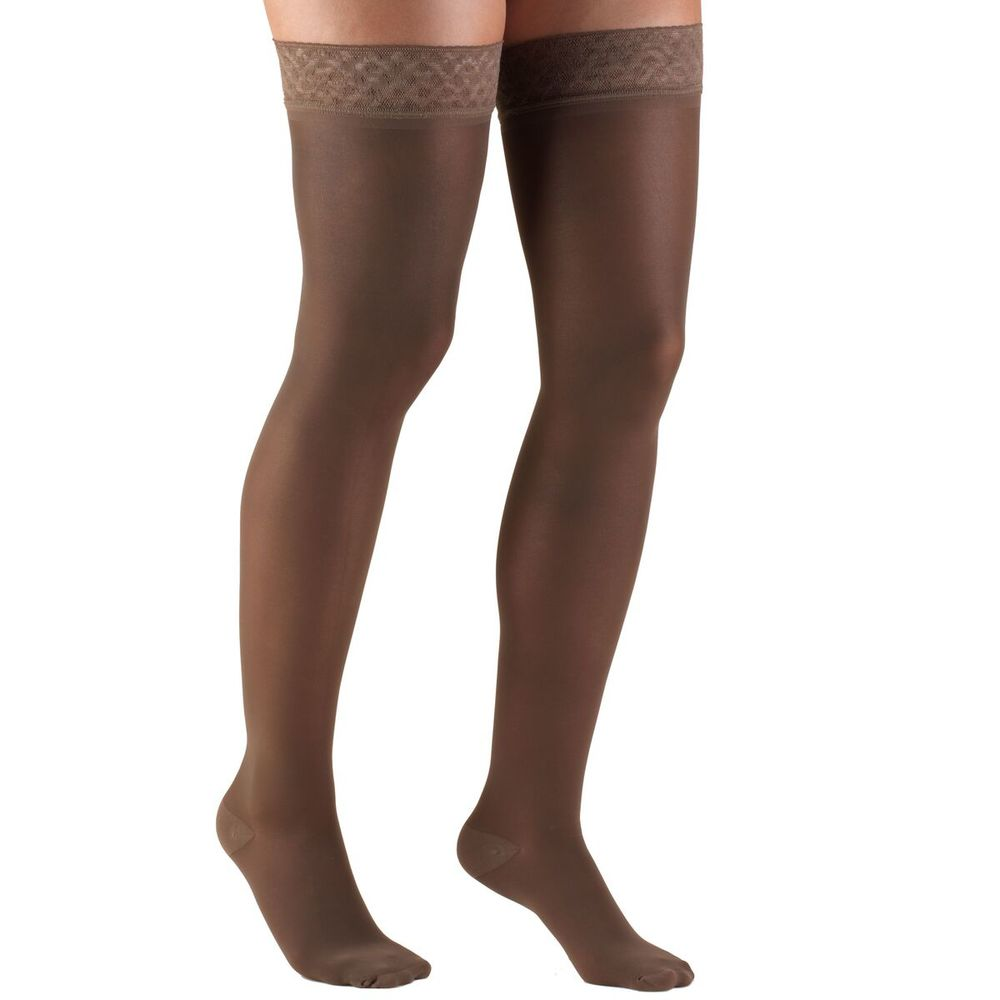 Truform, 0254, 30-40 mmHG, TRUSheer, Thigh High, Taupe, Compression Stockings