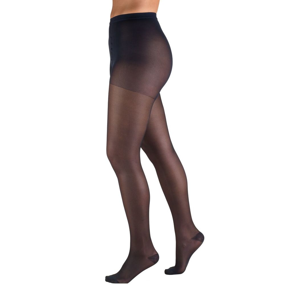 Truform, 1775, 15-20 mmHg, Sheer, Pantyhose, Navy, Compression Stockings
