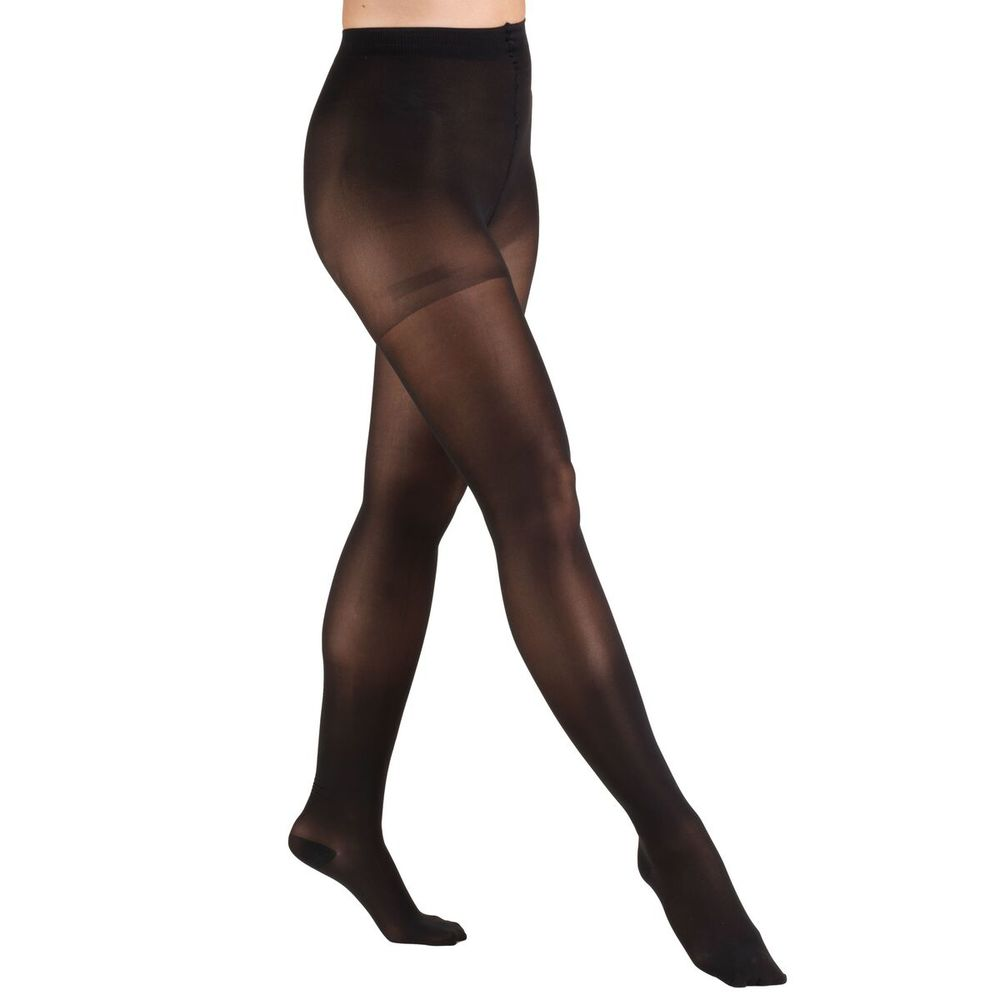 Truform, 0265, 20-30 mmHg, TRUSheer, Pantyhose, Standard Figure, Black, Compression Stockings