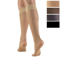 1763 / SHEER KNEE HIGH STOCKINGS / 8-15 MMHG