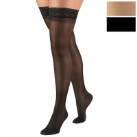 1764 / SHEER THIGH HIGH STOCKINGS / 8-15 MMHG