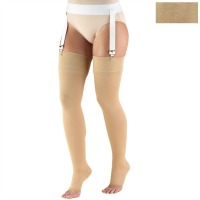 0846 / THIGH HIGH SOFT TOP, OPEN TOE / 30-40 MMHG
