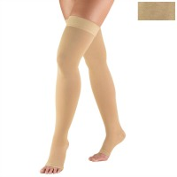 0848 / THIGH SILICONE DOT TOP, OPEN TOE / 30-40 MMHG