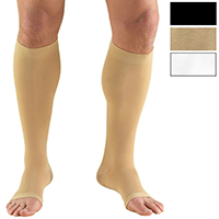 0865 / KNEE HIGH, SOFT TOP, OPEN TOE / 20-30 MMHG