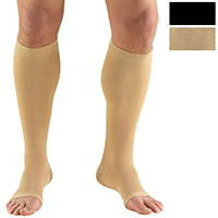 0865S / KNEE HIGH-SOFT TOP, OPEN TOE, SHORT / 20-30 MMHG