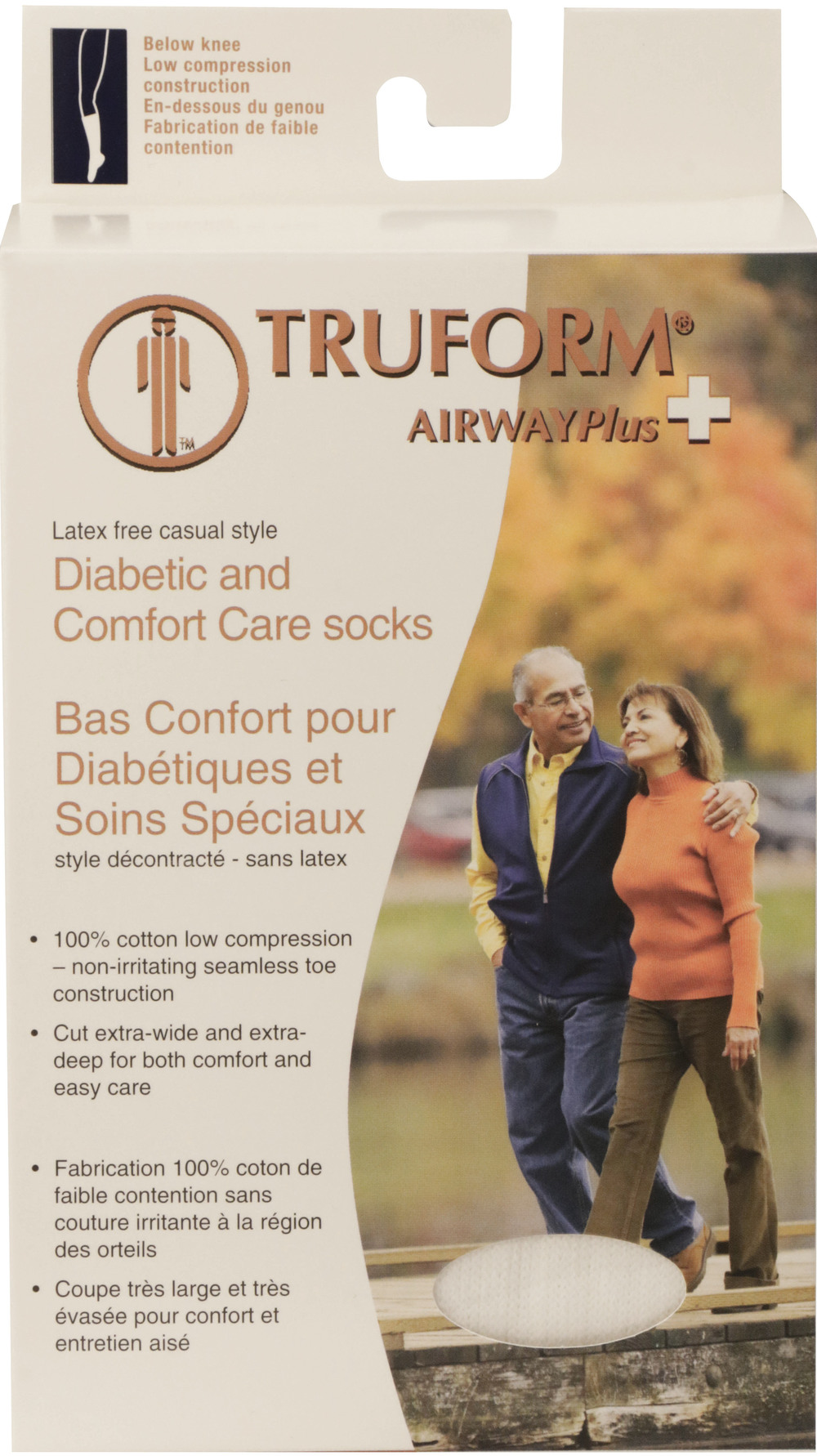 Truform, 1914, Comfort Care, Casual Socks, Package