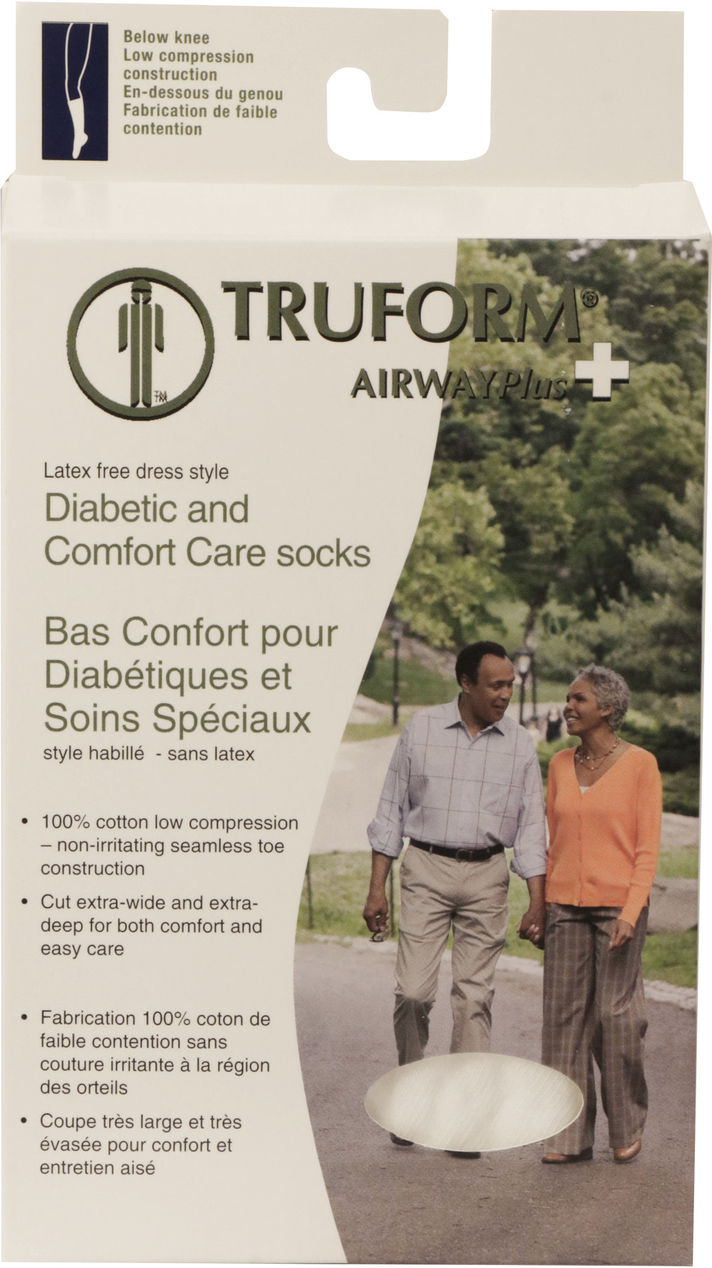 Truform, 1915, Comfort Care, Dress Socks, Package