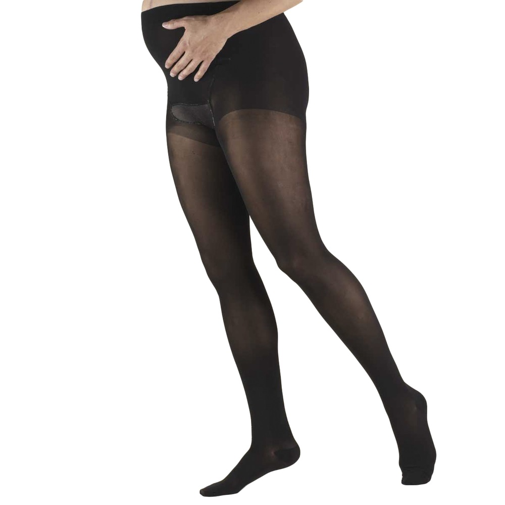 Truform, 1777, 15-20 mmHg, Sheer, Maternity Style, Pantyhose, Black, Compression Stockings