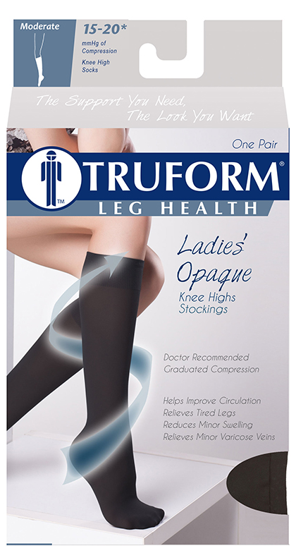 0373 / OPAQUE KNEE HIGH / CLOSED TOE / 15 - 20 MMHG PACKAGING IMAGE