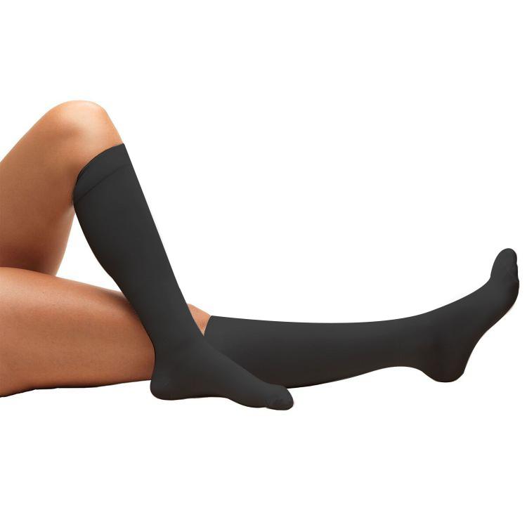 Truform, 8808, 18 mmHg, Anti-Embolism, Closed Toe, Knee High, Stockings, Black