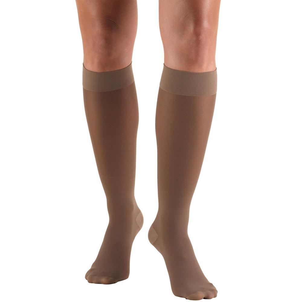 Truform, 0253, 30-40 mmHG, TruSheer, Knee High, Taupe, Compression Stockings