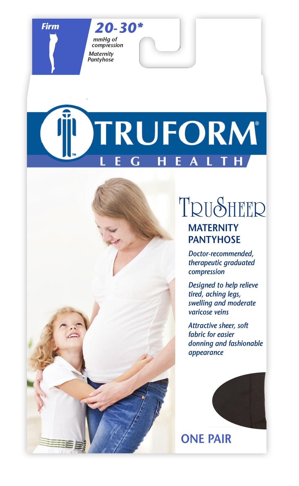 Truform, 0267, 20-30 mmHg, TRUSheer, Maternity Style, Pantyhose, Package