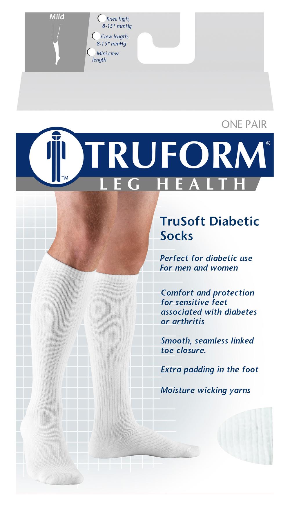 Truform, 1913, 8-15 mmHg, Trusoft, Knee High, Package