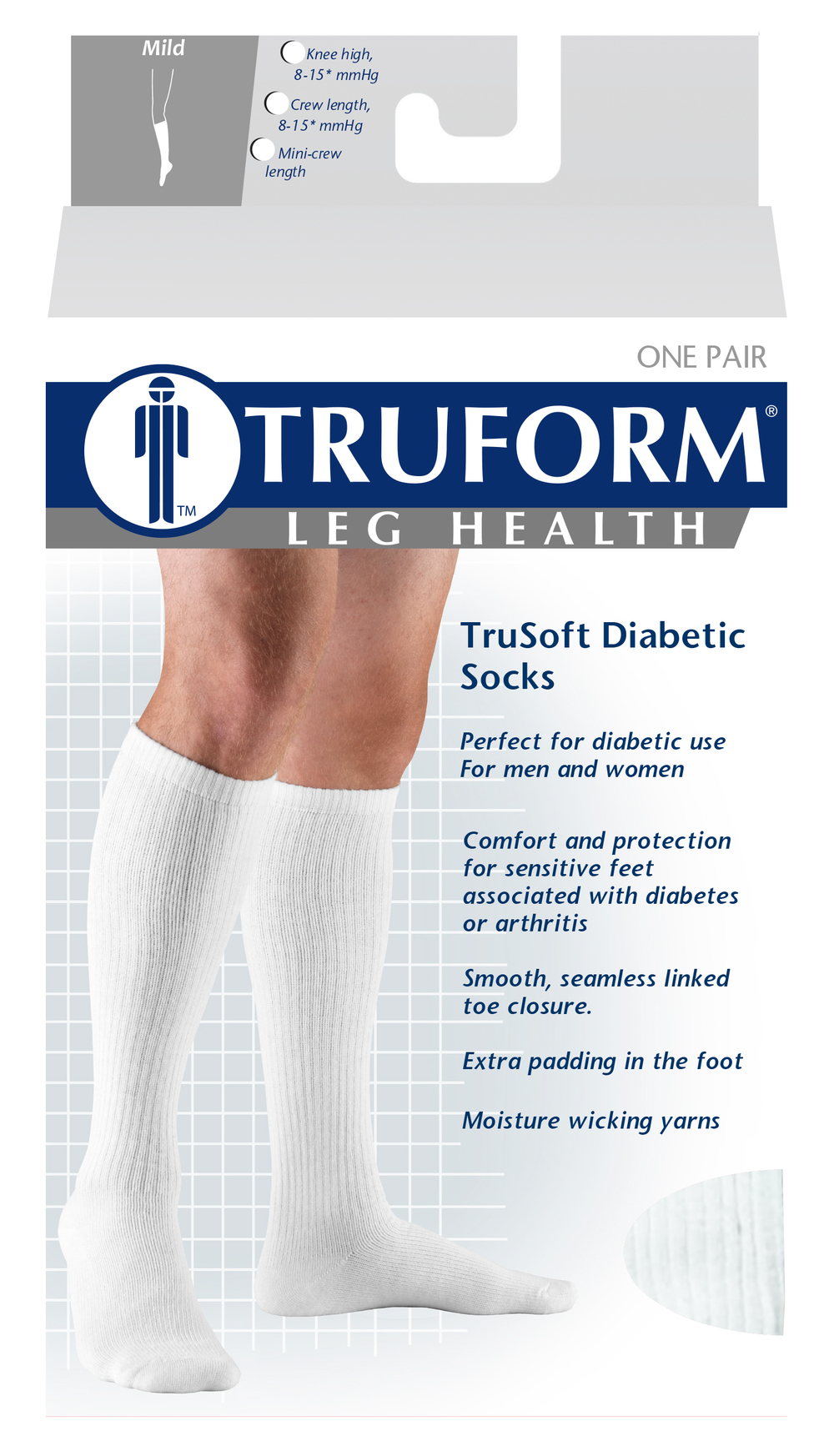 Truform, 1912, 8-15 mmHg, Trusoft, Crew Length, Package