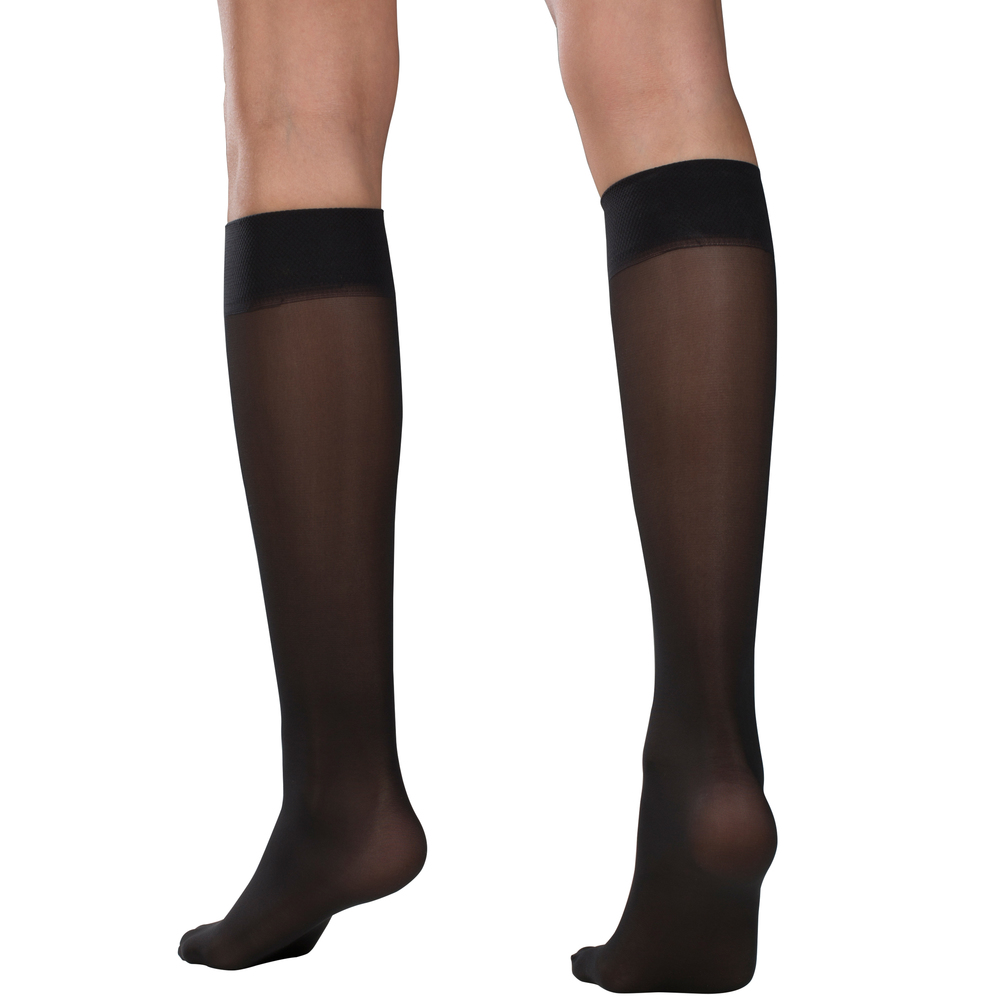 Truform, 1763, 8-15 mmHG, Sheer, Knee High, Taupe, Compression Stockings