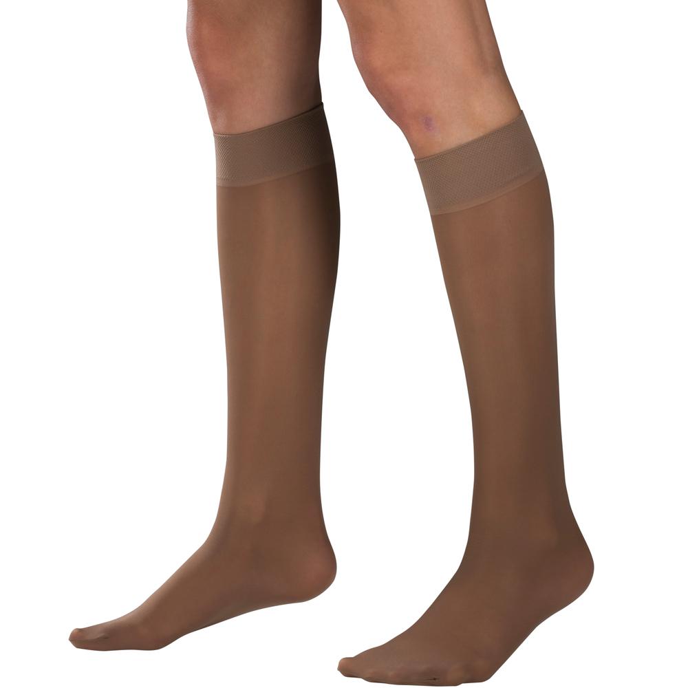 Truform, 1763, 8-15 mmHG, Sheer, Knee High, Navy, Compression Stockings