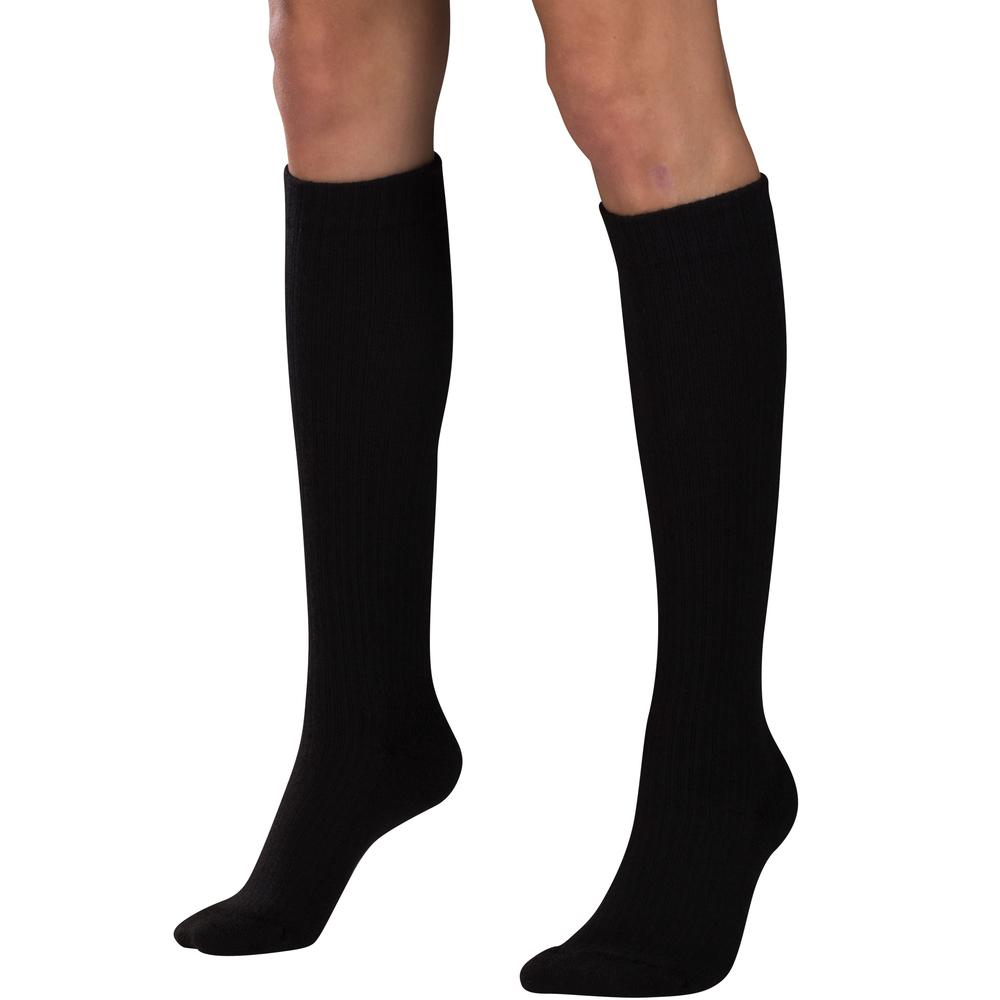 Truform, 1963, Compression, 10-20 mmHg, Women's Calf Length, Casual Sock, Black