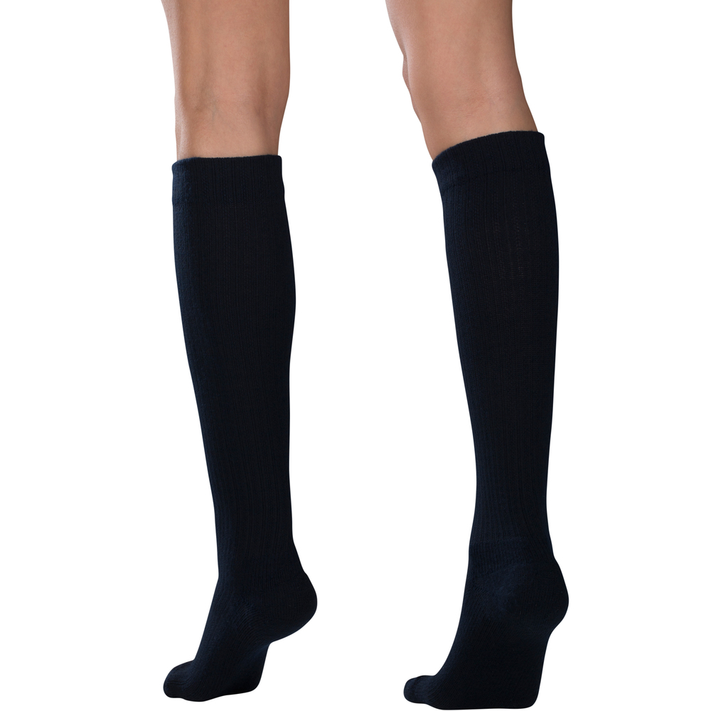 Truform, 1963, Compression, 10-20 mmHg, Women's Calf Length, Casual Sock, Navy