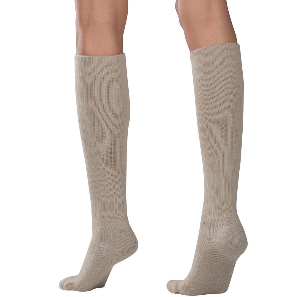 Truform, 1963, Compression, 10-20 mmHg, Women's Calf Length, Casual Sock, Tan