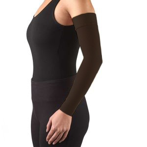 Truform, 3326, 20-30 mmHg, Ready-To-Wear, Silicone Dot-Top, Arm Sleeve, Black