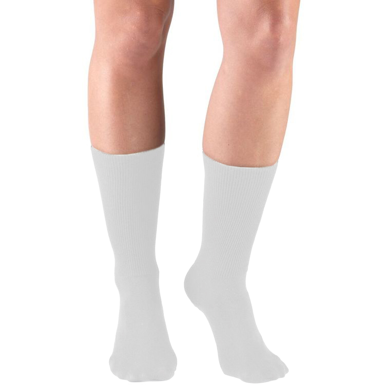 Truform, 1915, Comfort Care, Dress Socks, White