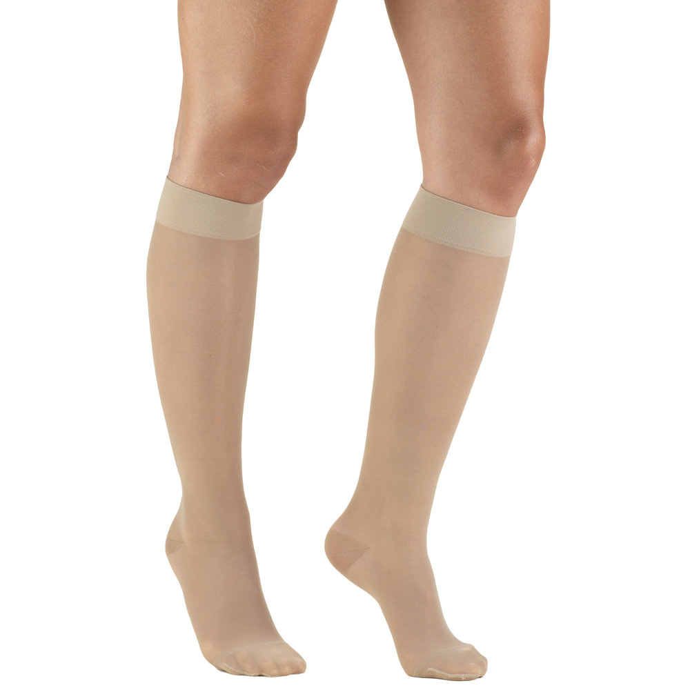 Truform, 1773, 15-20 mmHG, Sheer, Knee High, Warm Beige, Compression Stockings