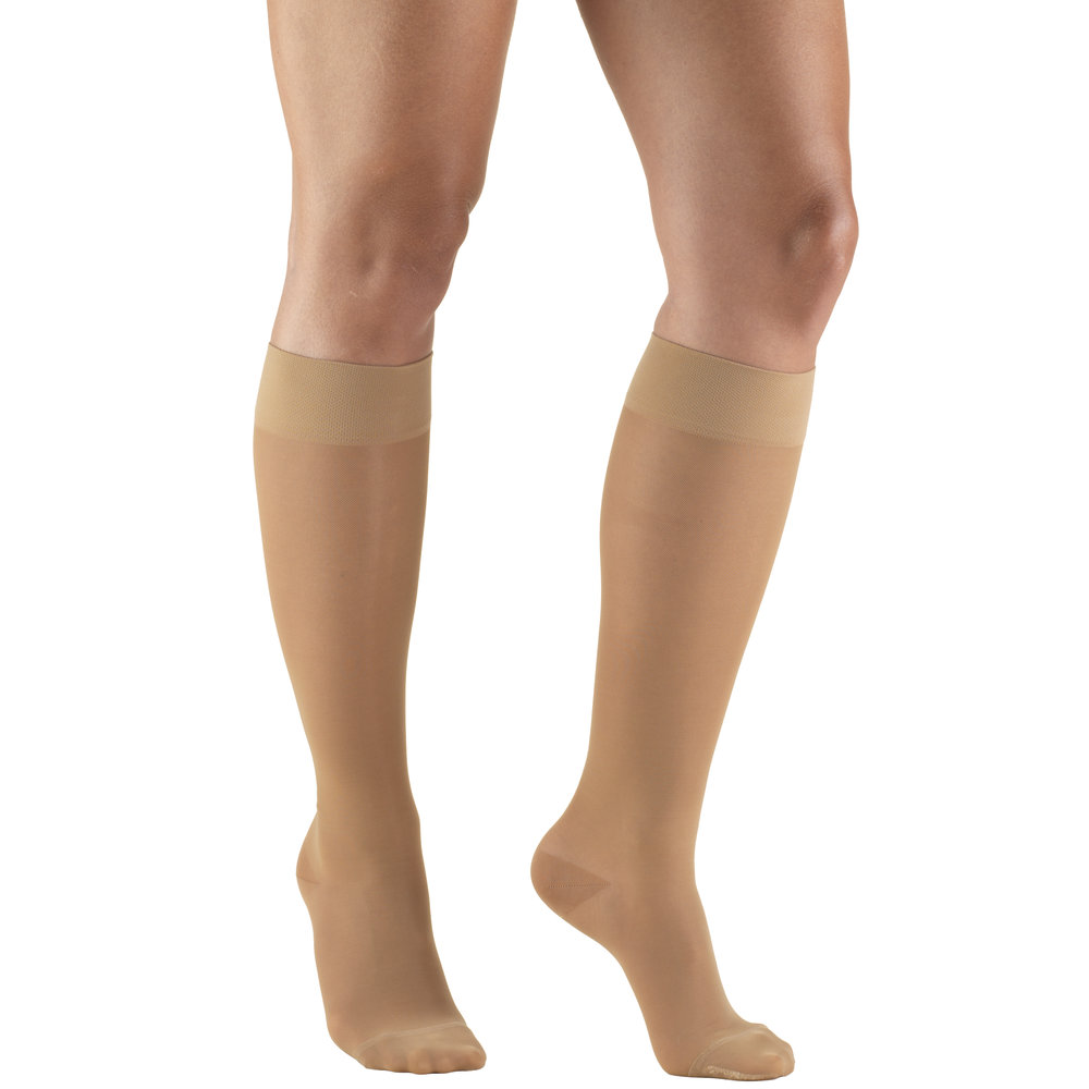 Truform, 1773, 15-20 mmHG, Sheer, Knee High, Nude, Compression Stockings