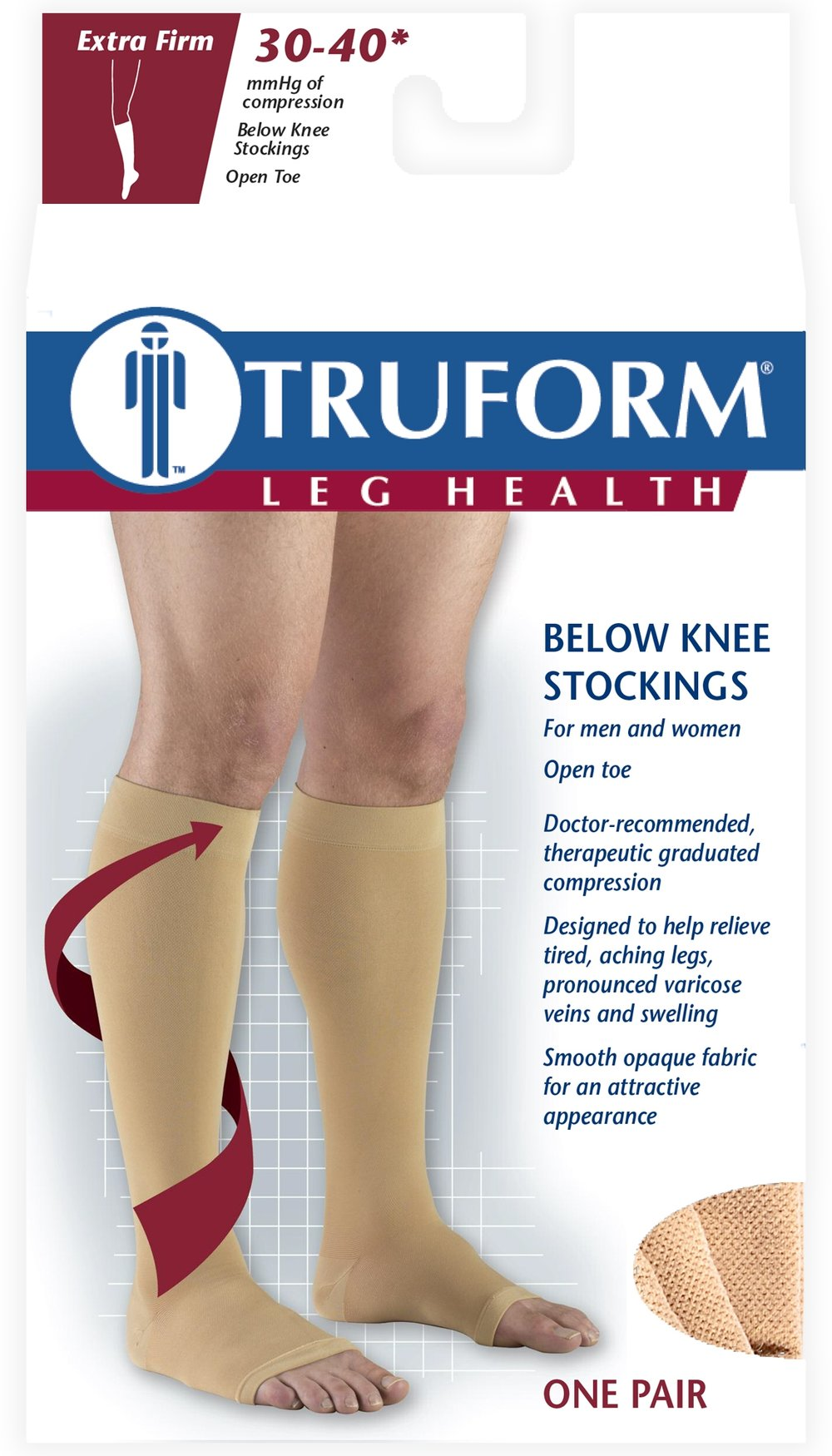 0845 / KNEE HIGH-SOFT TOP, OPEN TOE / 30-40 MMHG PACKAGING IMAGE