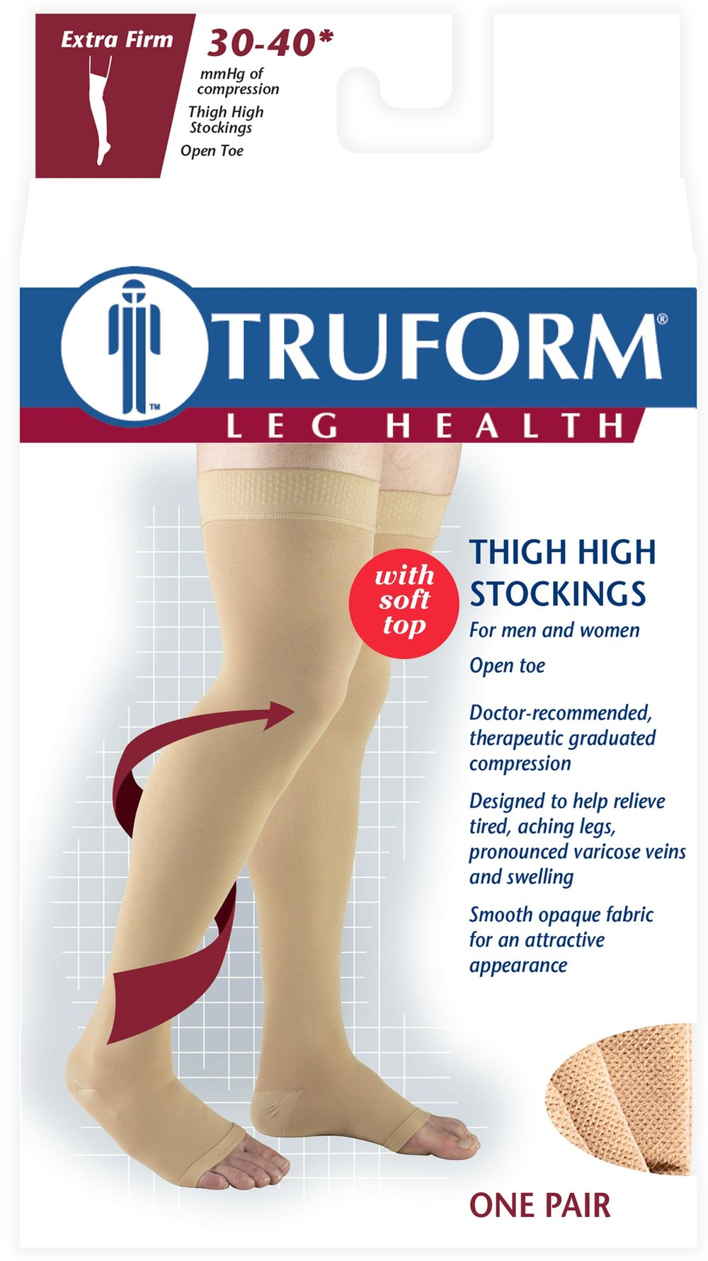 0846 / THIGH HIGH - SOFT TOP, OPEN TOE / 30-40 MMHG PACKAGING IMAGE
