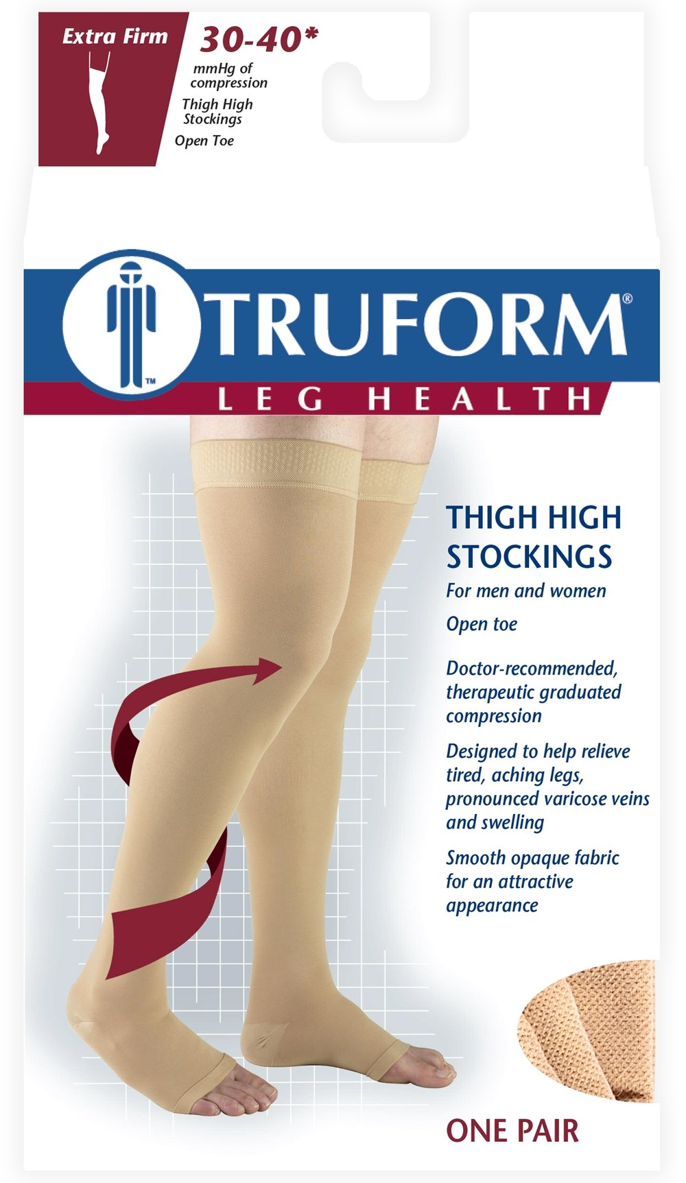 0848 / THIGH HIGH, SILICONE DOT TOP, OPEN TOE / 30-40 MMHG PACKAGING IMAGE