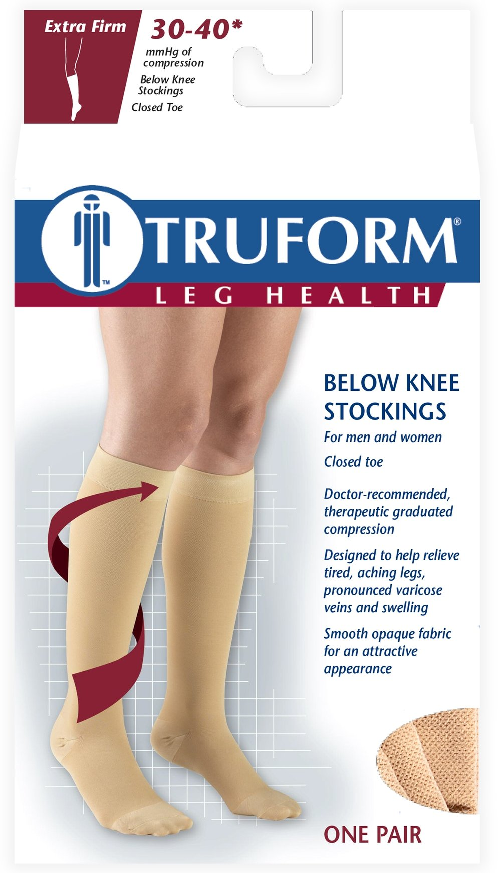 8845 / KNEE HIGH-SOFT TOP, CLOSED TOE / 30-40 MMHG PACKAGING IMAGE
