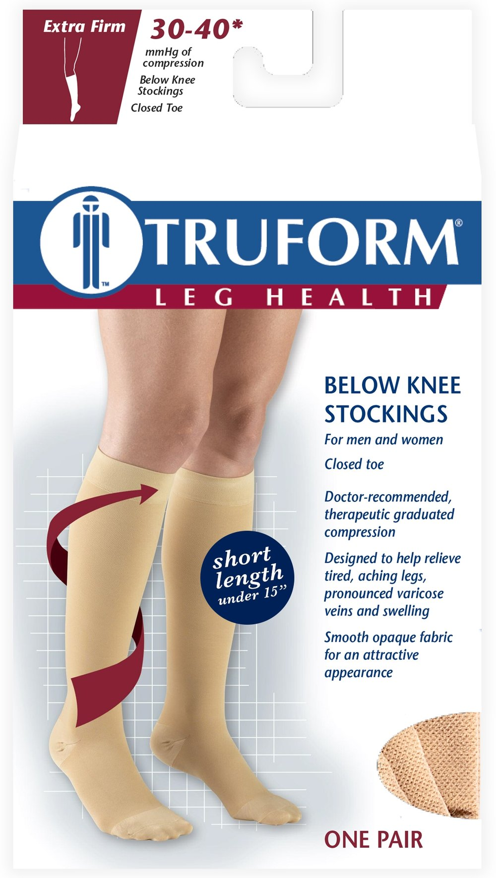 8845S / KNEE HIGH-SOFT TOP, CLOSED TOE, SHORT LENGTH, 30-40 MMHG PACKAGING IMAGE