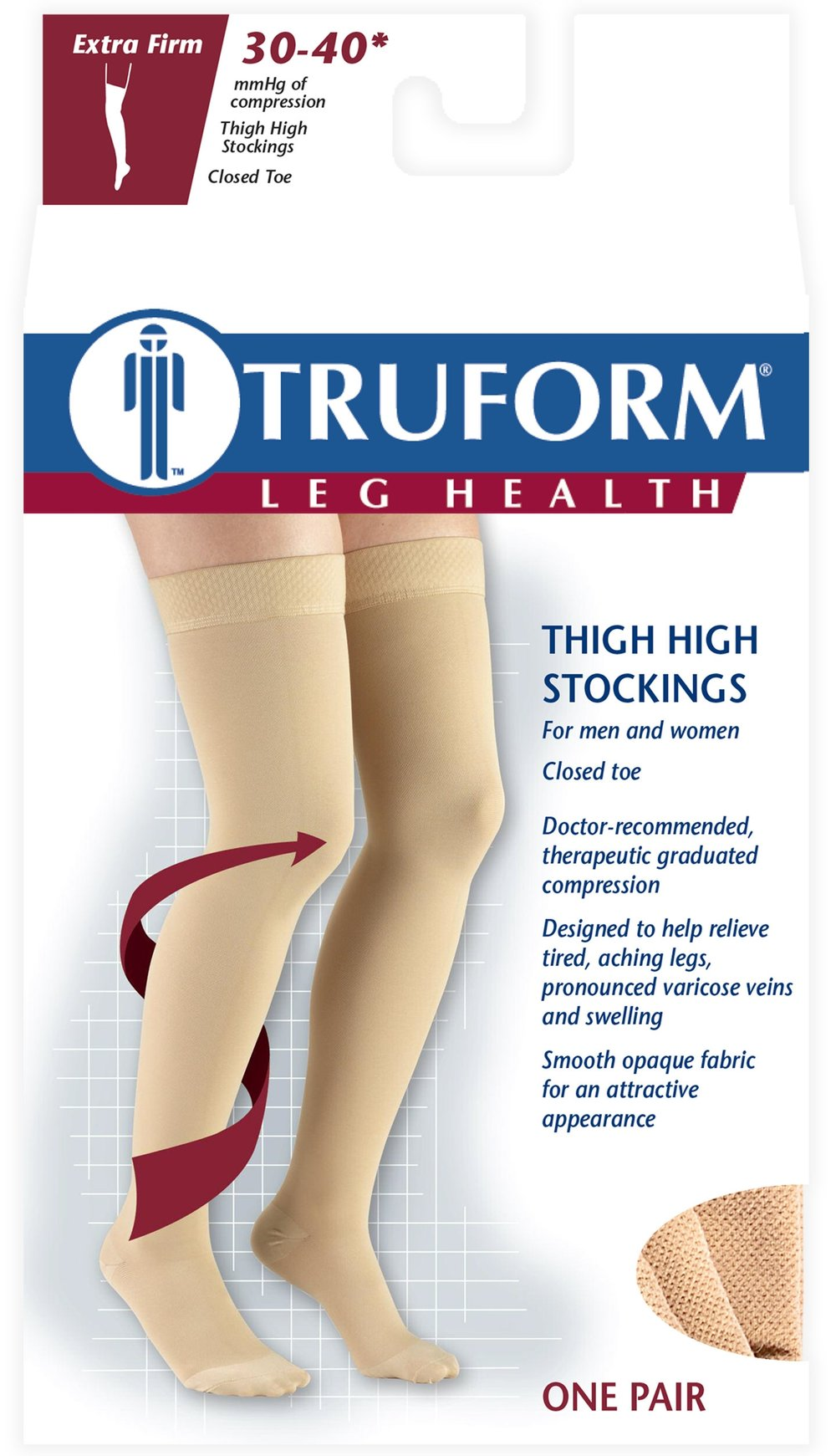 8848 / THIGH HIGH-SILICONE DOT TOP, CLOSED TOE / 30-40 MMHG PACKAGING IMAGE