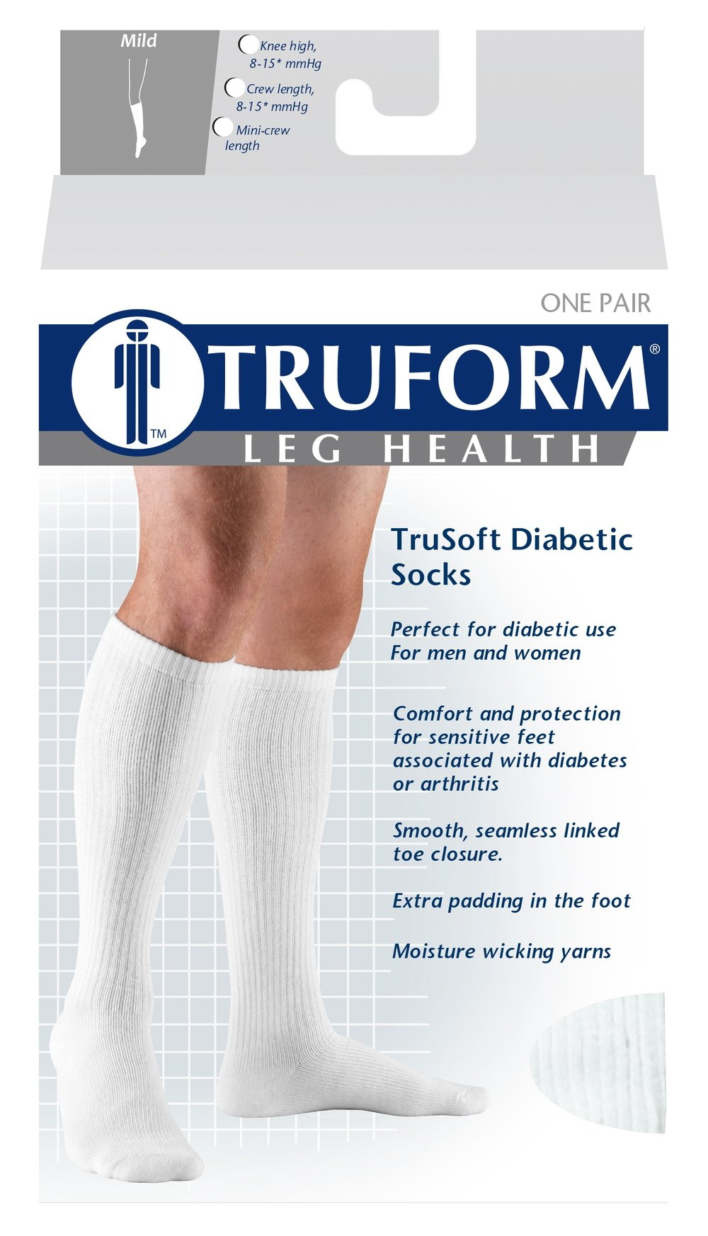 1913 / TRUSOFT KNEE HIGH SOCK / 8-15 MMHG PACKAGING IMAGE