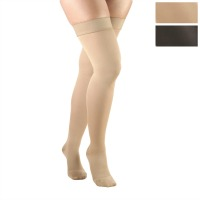 374 / OPAQUE THIGH HIGH CLOSED TOE / 15-20 MMHG