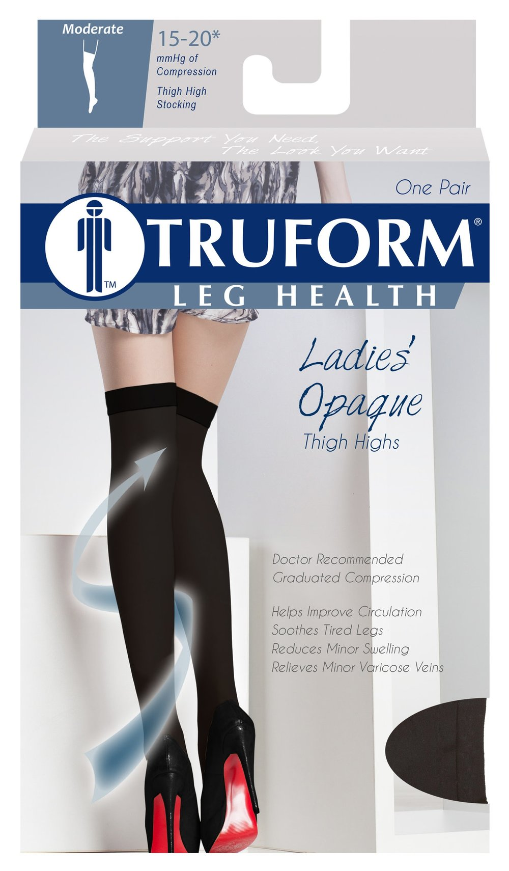 0374 / OPAQUE, THIGH HIGH, CLOSED TOE / 15-20 MMHG PACKAGING IMAGE