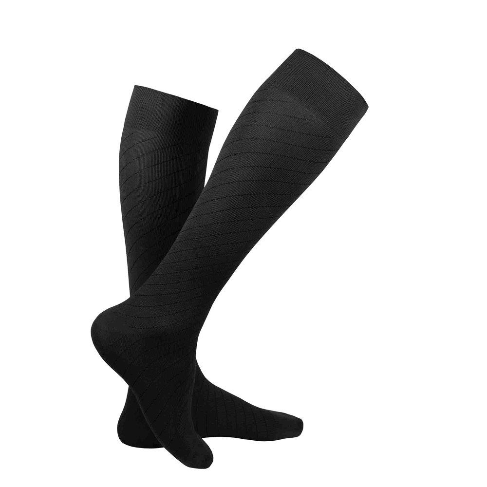 Truform Travel Sock, Black, Product Image