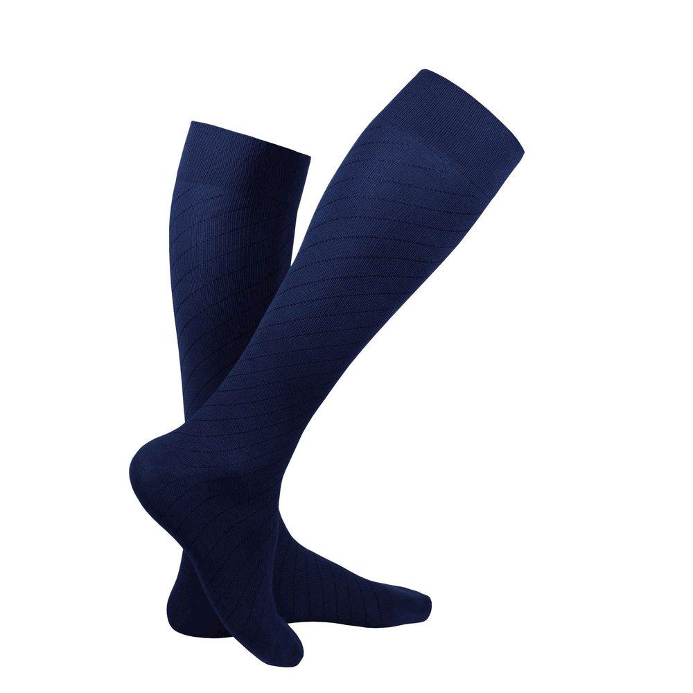 Truform Travel Sock, Navy, Product Image