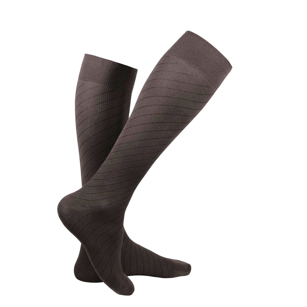 Truform Travel Sock, Brown, Product Image