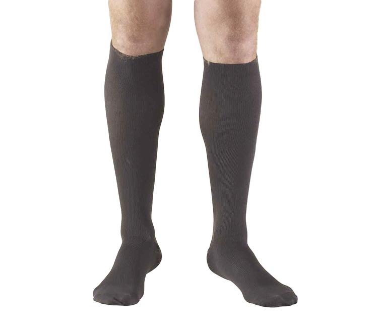 Truform, 1943, 15-20 mmHg, Compression, Men's, Knee High, Dress Sock, Charcoal