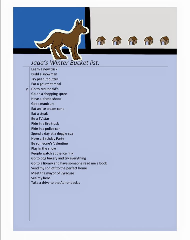 Jada's winter bucket list