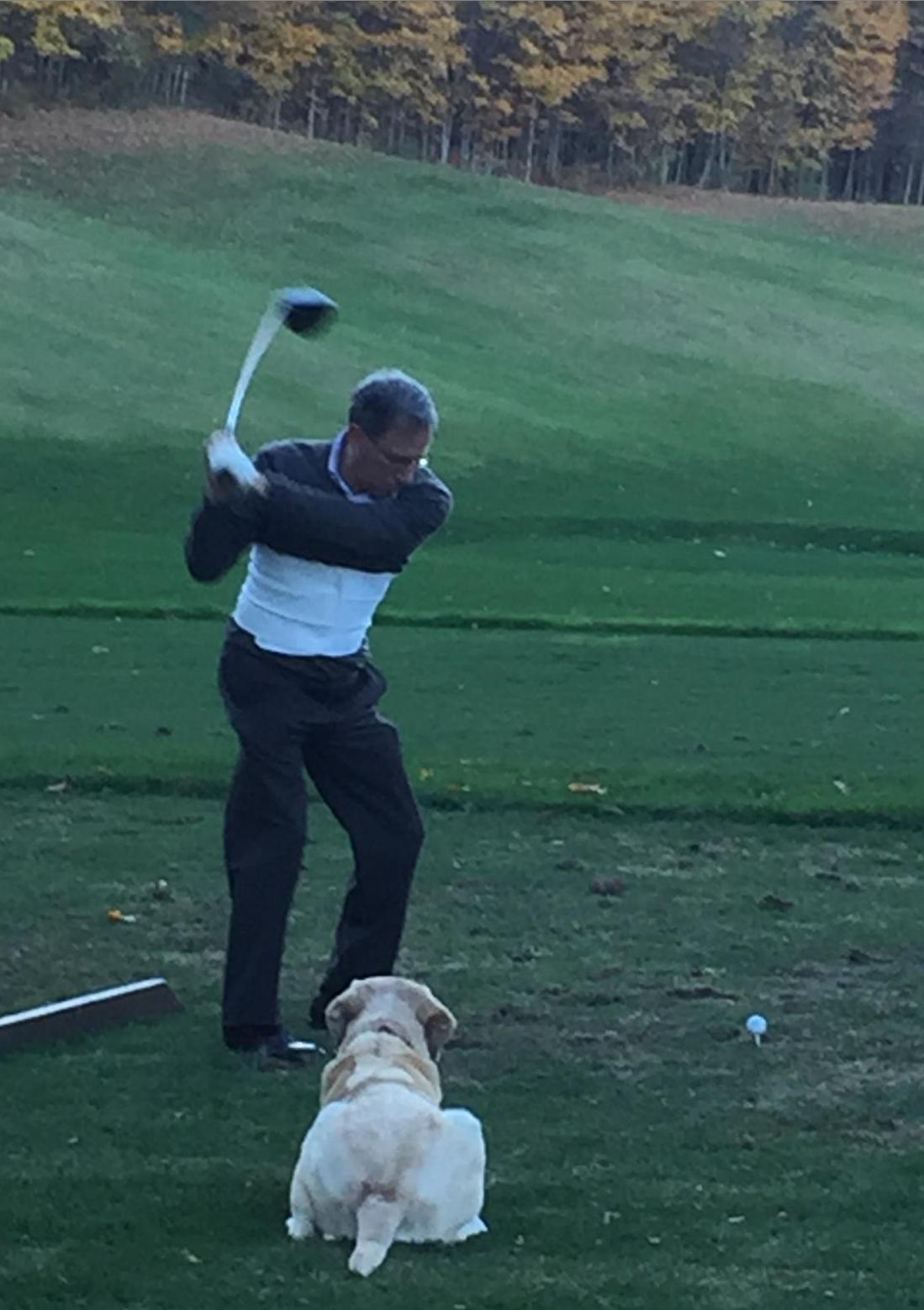 Truman golfing