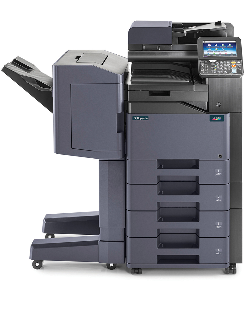 The CS 356ci with 1000 sheet finisher and 2 x 500 sheet cassettes