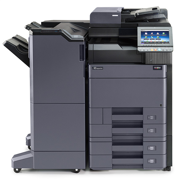 The CS 5052ci with 4000 sheet finisher and 2 x 500 sheet cassette